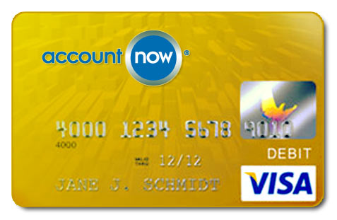 Image result for AccountNow Gold Visa Prepaid Card