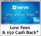 Click here to apply for the American Express Serve prepaid debit card and digital wallet!