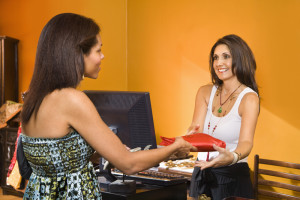 Women Making Purchase