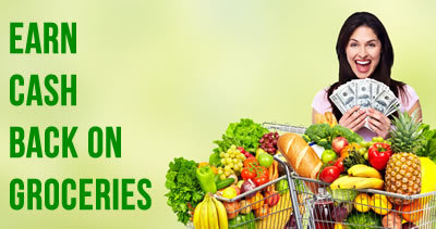Earn up to 5% Cash Back shopping for groceries!