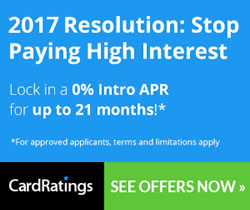 2017 Resolution: Stop Paying High Interest - Transfer Your Balance to a 0% APR Card Today