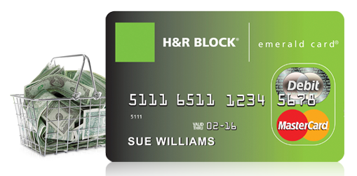 About H&R Block Emerald Card: It's a prepaid card issued by H&R Block Bank. If you use the H&R Block Online or Software to file your taxes, a H&R Block Emerald Card is a recommended way to receive your tax refund. The card is very easy to use.