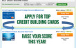 Apply for top credit building cards and raise your credit score this year!