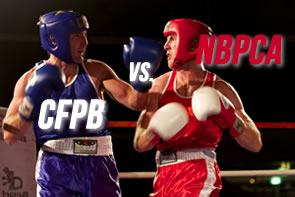Red Boxer (CFPB) Squares Off with Blue Boxer (NBPCA)
