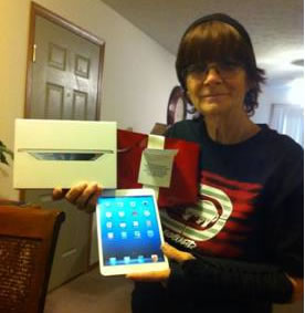 Linda Tollison - our first Ipad Mini giveaway winner!